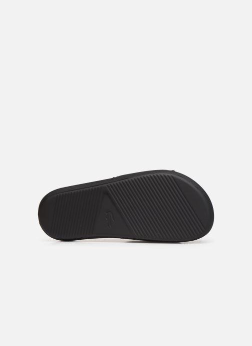 Sandales et nu-pieds Lacoste Croco Slide 319 4 US CMA Noir vue haut
