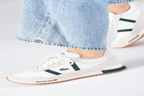 Sneaker Lacoste Partner Retro 319 1 SFA weiß ansicht von unten / tasche getragen