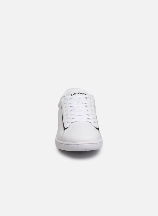 Baskets Lacoste Carnaby Evo 319 9 SFA Blanc vue portées chaussures