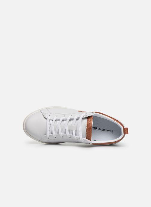 Baskets Lacoste Straight Set 319 1 CFA Blanc vue gauche