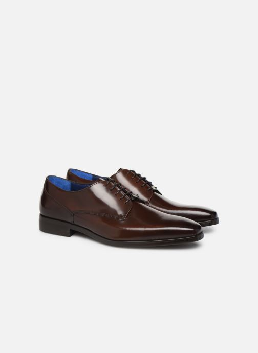 Lace-up shoes Azzaro POIVRE Brown 3/4 view