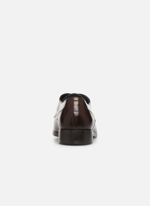 Lace-up shoes Azzaro POIVRE Brown view from the right
