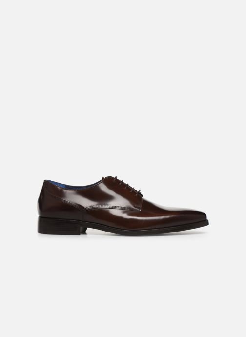 Lace-up shoes Azzaro POIVRE Brown back view
