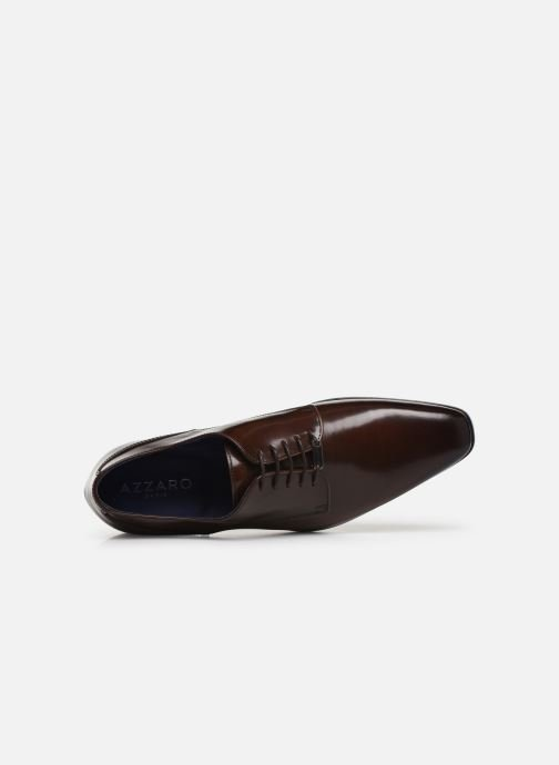 Lace-up shoes Azzaro POIVRE Brown view from the left