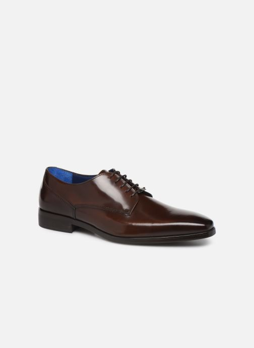 Lace-up shoes Azzaro POIVRE Brown detailed view/ Pair view