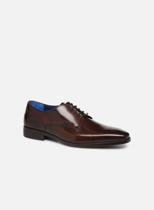Snøresko Azzaro POIVRE Brun detaljeret billede af skoene