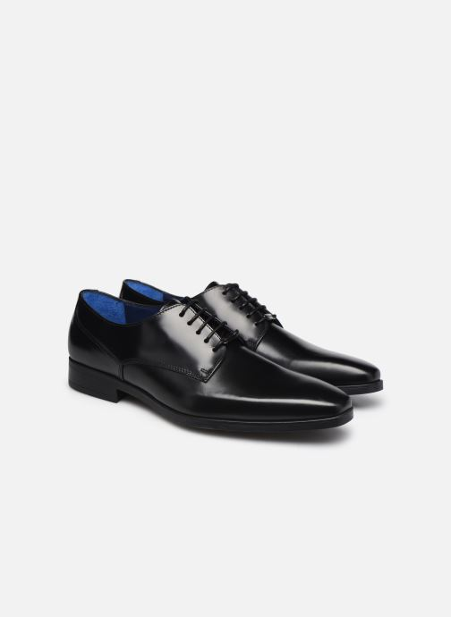 Zapatos con cordones Azzaro POIVRE Negro vista 3/4