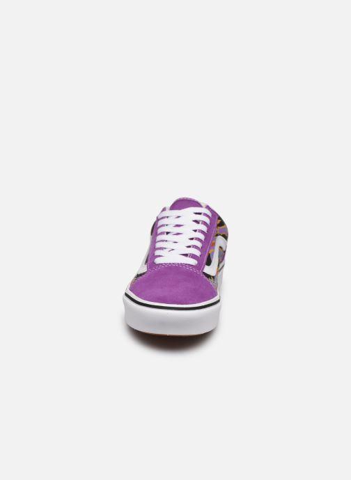 Baskets Vans Comfy Cush Old Skool Woman Violet vue portées chaussures