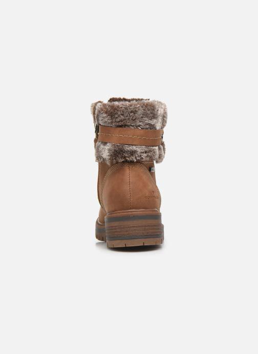 Bottines et boots Tom Tailor Nika Marron vue droite
