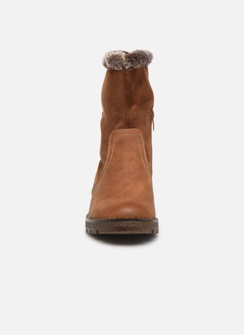 Bottines et boots Tom Tailor Juliette Marron vue portées chaussures