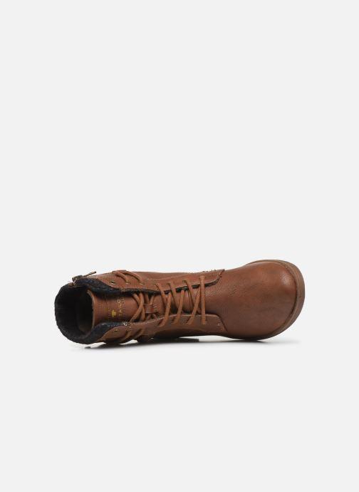 Stiefeletten & Boots Tom Tailor Nina braun ansicht von links