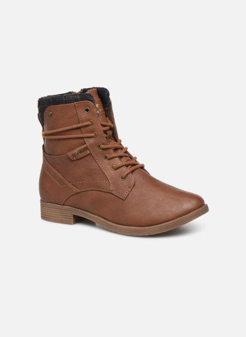 Bottines et boots Tom Tailor Nina Marron vue détail/paire