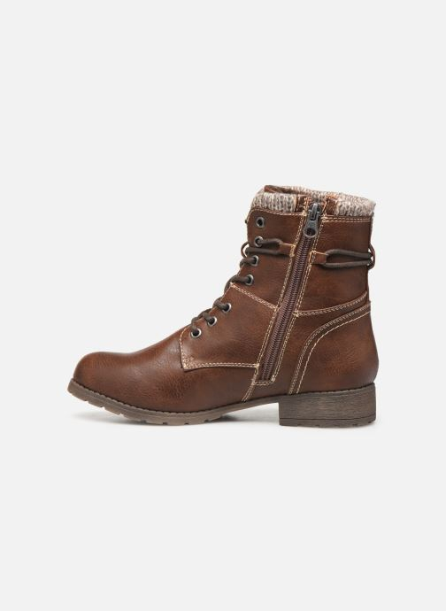Ankle boots Tom Tailor Ena Brown front view