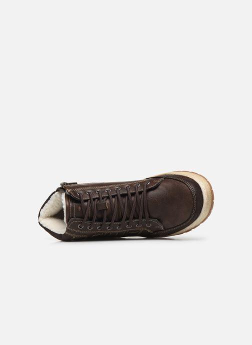 Sneaker Tom Tailor Monk braun ansicht von links