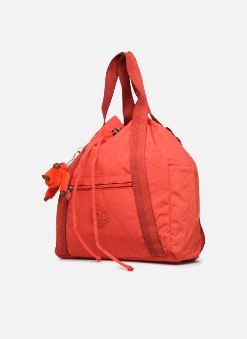 Bolsos de mano Kipling Art Backpack M Rojo vista del modelo