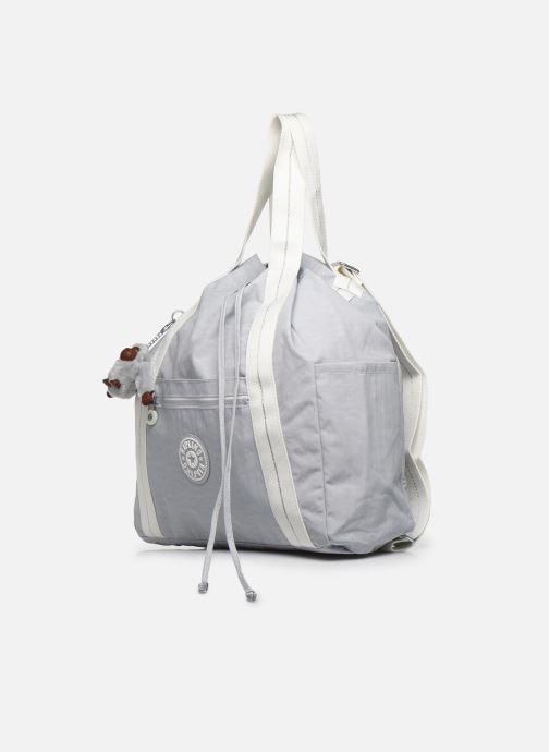 Bolsos de mano Kipling Art Backpack M Gris vista del modelo