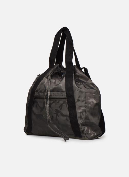Borse Kipling Art Backpack M Verde modello indossato