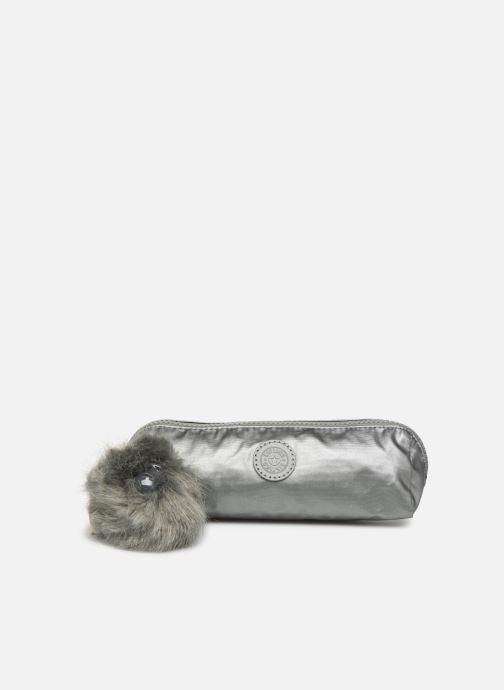 Kleine lederwaren kipling Brush Pouch Zilver detail