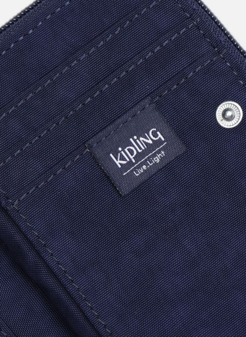 Kleine lederwaren kipling Money Power Blauw links