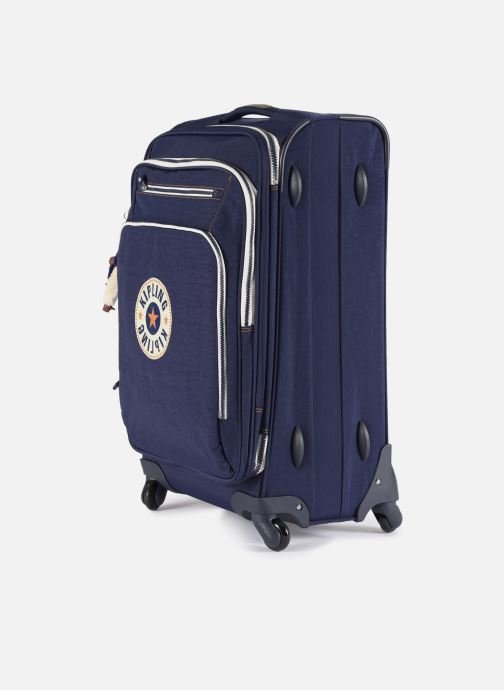 Bagages kipling Youri Spin 68 Bleu vue portées chaussures