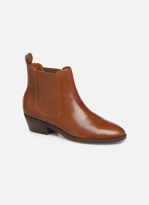 Ankelstøvler Lauren Ralph Lauren Ericka Boots  Brun detaljeret billede af skoene