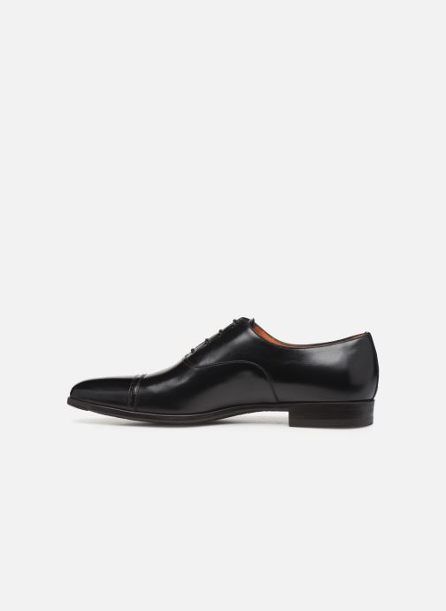 Lace-up shoes Santoni William 14231 2 Black front view
