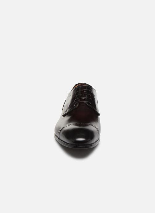 Chaussures à lacets Santoni Simon 16318 Bordeaux vue portées chaussures
