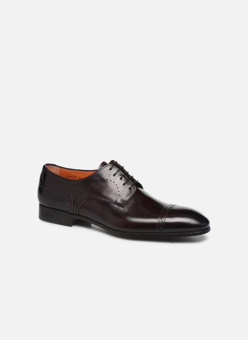 Chaussures à lacets Santoni Simon 16318 Bordeaux vue détail/paire