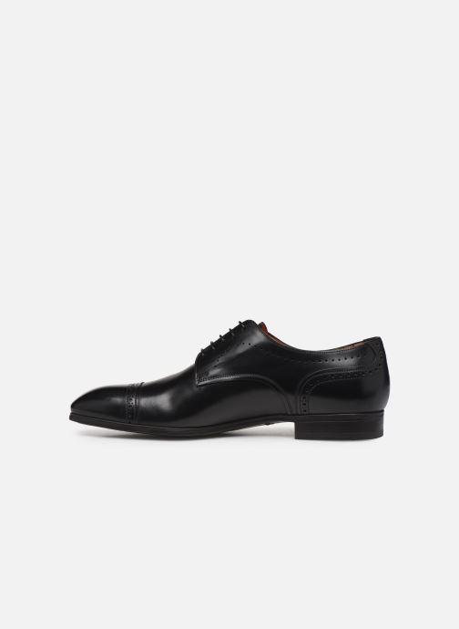 Chaussures à lacets Santoni Simon 16318 Noir Noir vue face
