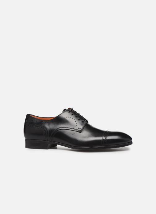 Chaussures à lacets Santoni Simon 16318 Noir Noir vue derrière
