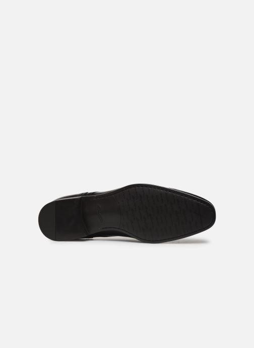 Chaussures à lacets Santoni Simon 16318 Noir Noir vue haut