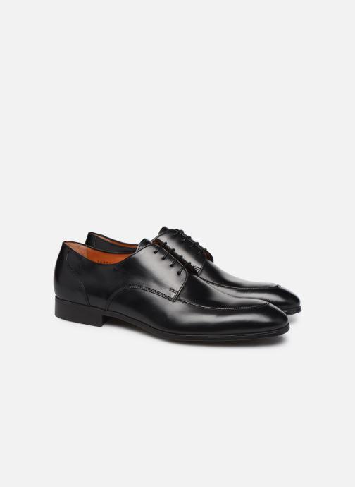 Chaussures à lacets Santoni Simon 16804 Noir vue 3/4