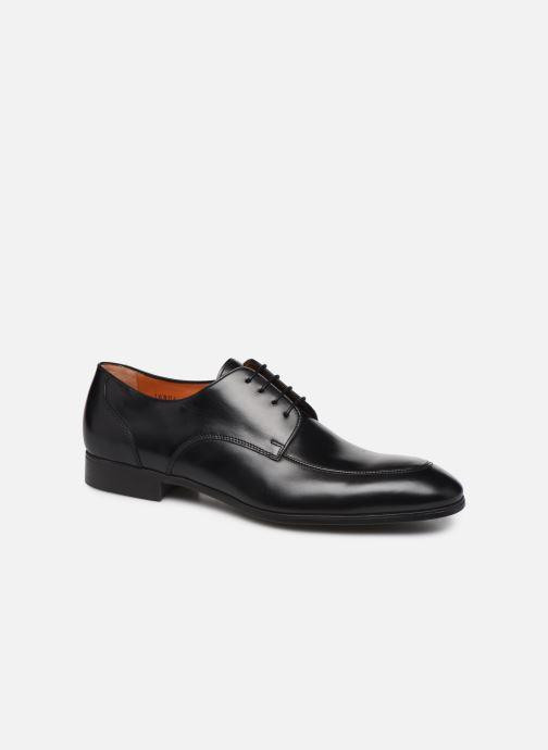 Chaussures à lacets Santoni Simon 16804 Noir vue détail/paire