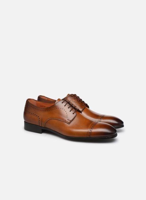 Lace-up shoes Santoni Simon 16318 Marron Gold Brown 3/4 view