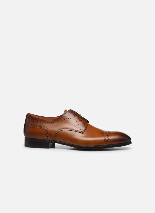 Lace-up shoes Santoni Simon 16318 Marron Gold Brown back view
