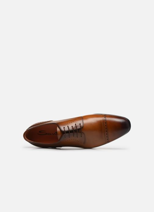 Lace-up shoes Santoni Simon 16318 Marron Gold Brown view from the left