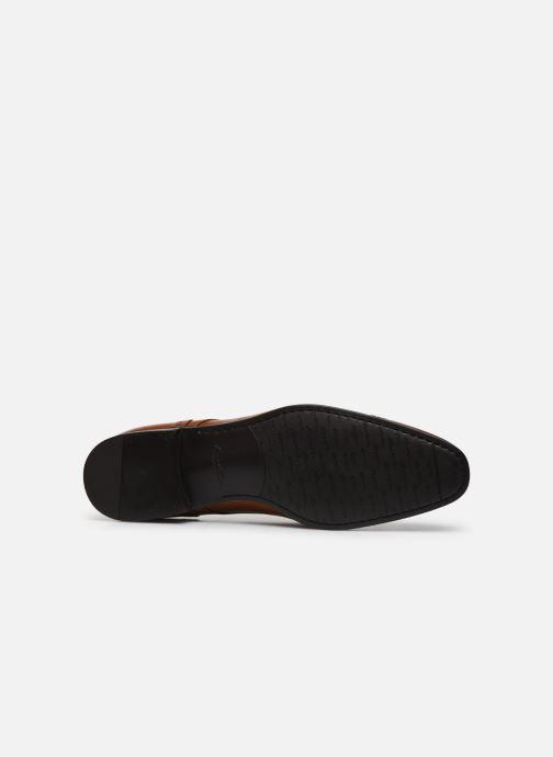Chaussures à lacets Santoni Simon 16318 Marron Gold Marron vue haut