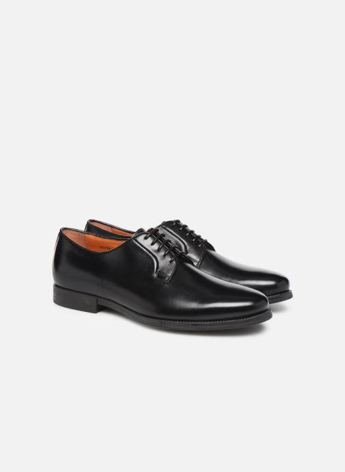 Zapatos con cordones Santoni Mars 15753 Negro vista 3/4