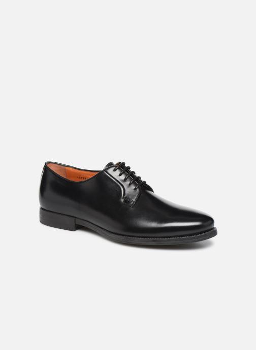 Zapatos con cordones Santoni Mars 15753 Negro vista de detalle / par