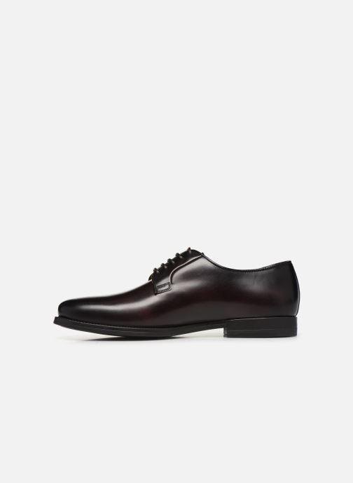 Zapatos con cordones Santoni Mars 15753 Vino vista de frente