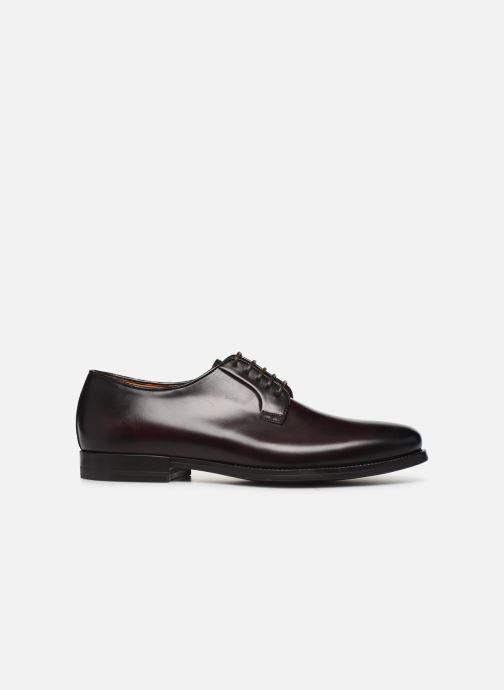 Zapatos con cordones Santoni Mars 15753 Vino vistra trasera