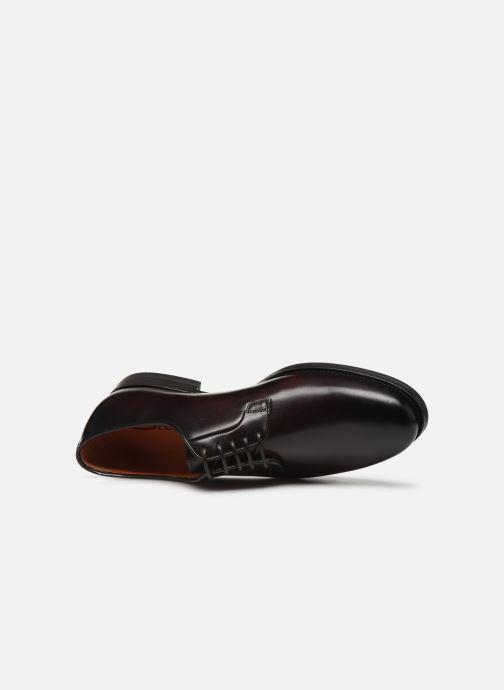 Zapatos con cordones Santoni Mars 15753 Vino vista lateral izquierda