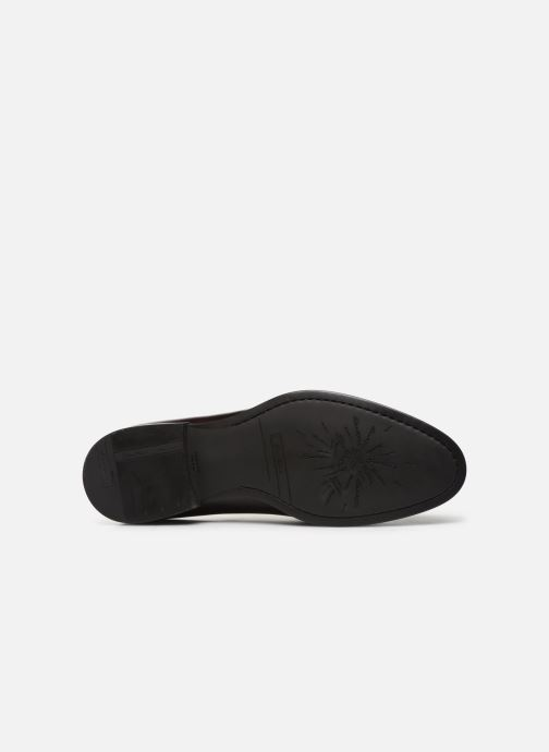 Zapatos con cordones Santoni Mars 15753 Vino vista de arriba
