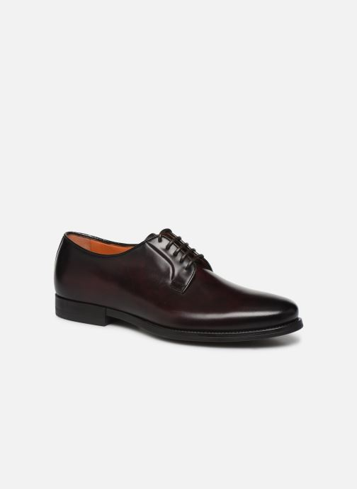 Zapatos con cordones Santoni Mars 15753 Vino vista de detalle / par