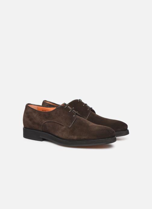 Lace-up shoes Santoni Levante 16358 Brown 3/4 view