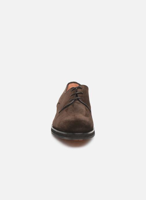 Lace-up shoes Santoni Levante 16358 Brown model view