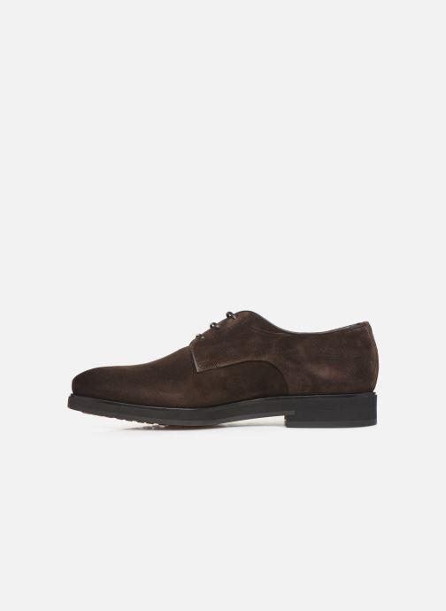 Lace-up shoes Santoni Levante 16358 Brown front view