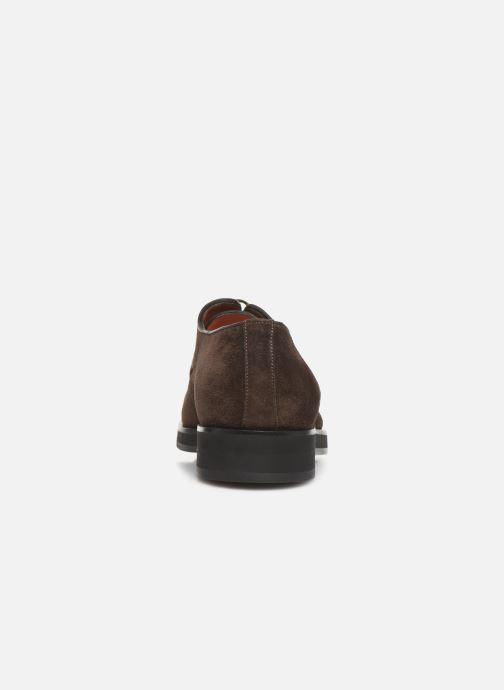 Lace-up shoes Santoni Levante 16358 Brown view from the right