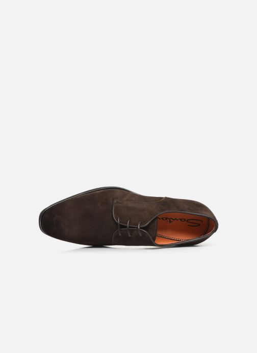 Lace-up shoes Santoni Levante 16358 Brown view from the left