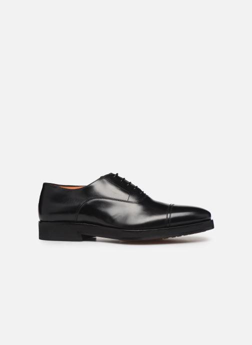 Zapatos con cordones Santoni Levante 16359 Negro vistra trasera